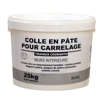 Colle en pâte pour carrelage mur, 25 kg, blanc