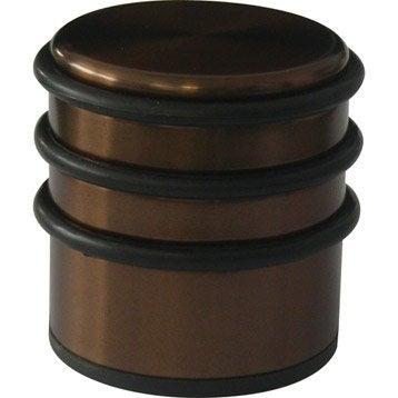 Bloque-porte métal brillant H.6.6 x L.6.8 x Diam.6.8 cm