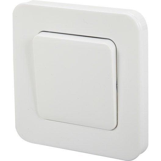interrupteur va et vient city lexman blanc leroy merlin. Black Bedroom Furniture Sets. Home Design Ideas