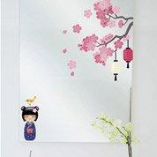 Sticker Printemps de la Kokeshi 24 cm x 69 cm