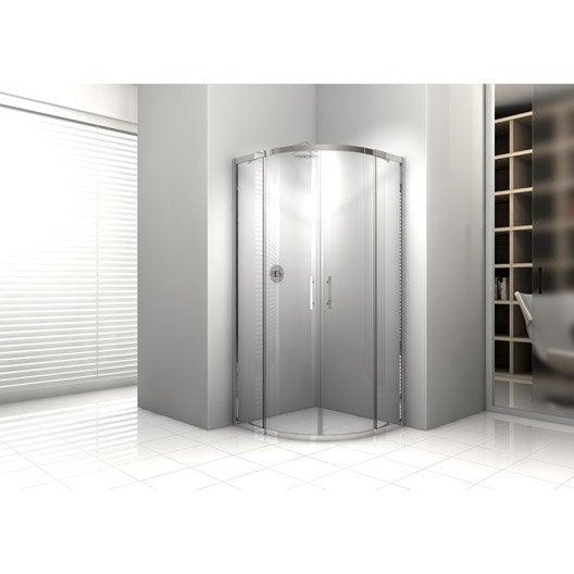porte de douche coulissante angle 1 4 de cercle x cm chrom elyt leroy merlin. Black Bedroom Furniture Sets. Home Design Ideas
