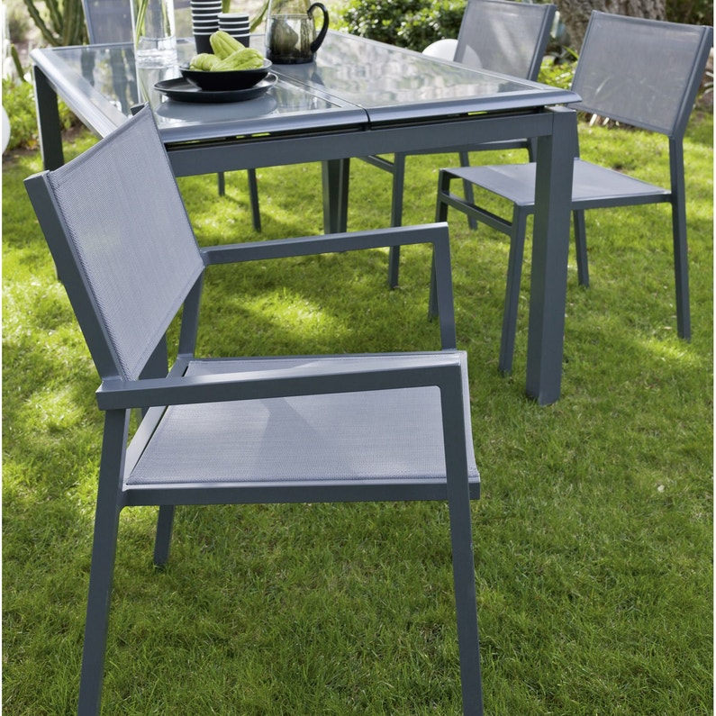 Fauteuil de jardin en aluminium Niagara gris | Leroy Merlin