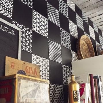 Décor Astuce step noir noir n°0, l.20 x L.20 cm