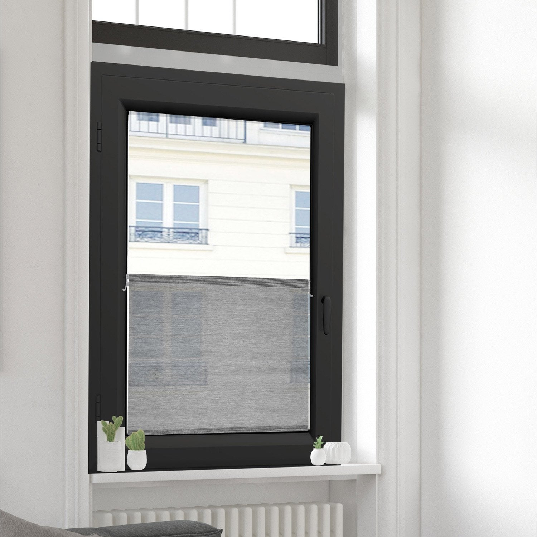 vitrage tamisant petite hauteur straight gris x cm vitrage. Black Bedroom Furniture Sets. Home Design Ideas