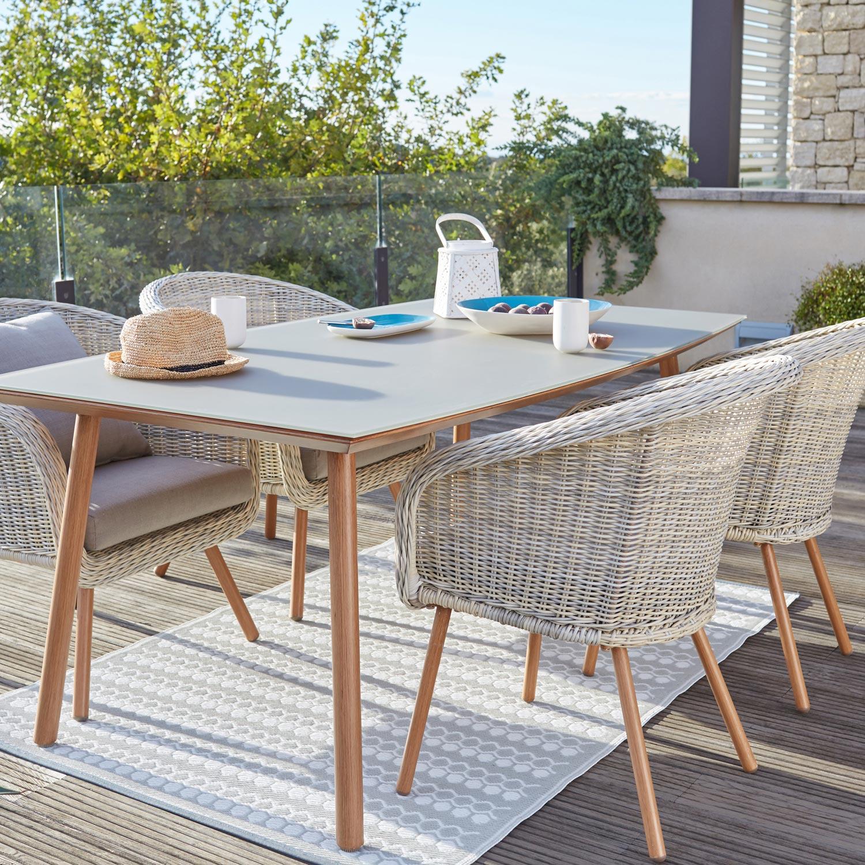 salon de jardin new england r sine plastique blanc 4. Black Bedroom Furniture Sets. Home Design Ideas