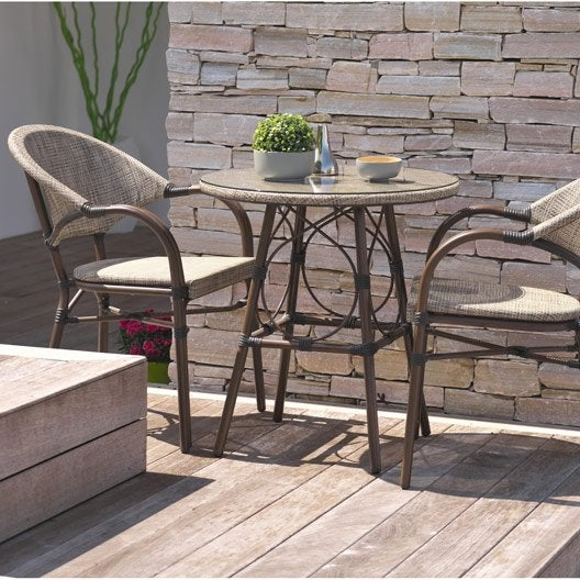 Salon de jardin table fauteuil chaise salon de jardin for Salon de jardin 2 personnes