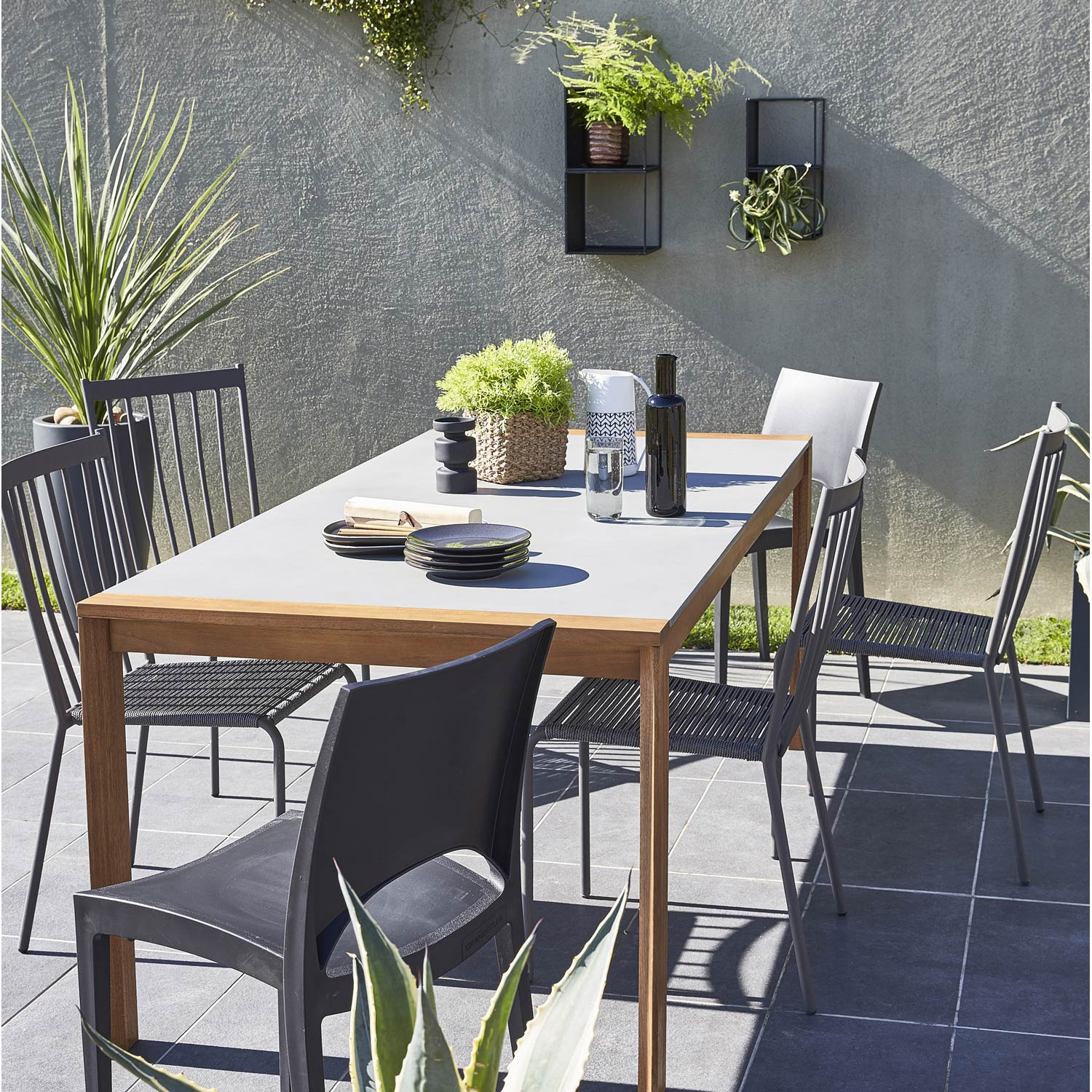 Stunning Table De Jardin Bois Gris Photos - Awesome Interior Home ...