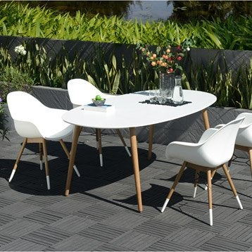 Salon de jardin table et chaise mobilier de jardin for Leroy merlin table jardin
