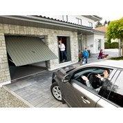Porte de garage manuelle x cm leroy merlin - Motorisation porte de garage chamberlain ...