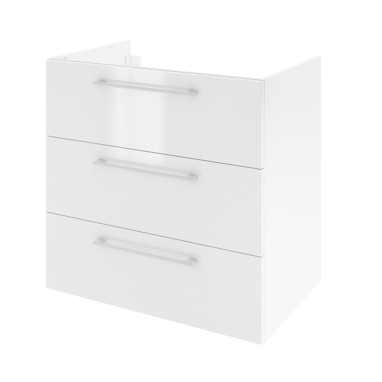 Meuble de salle de bains l.75 x H.73 x P.46 cm, blanc, Remix