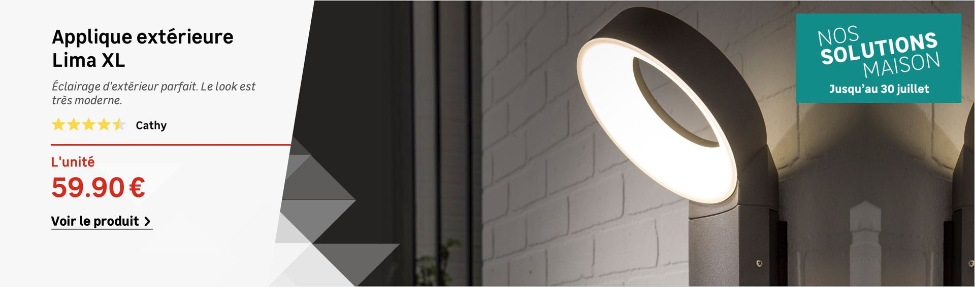 clairage ext rieur luminaire jardin led leroy merlin. Black Bedroom Furniture Sets. Home Design Ideas