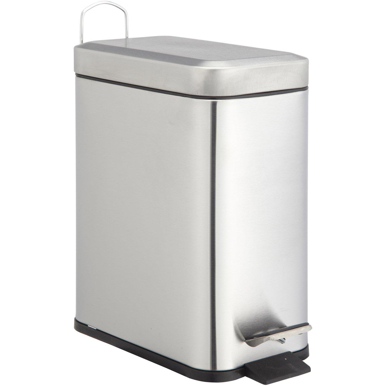 Colonne Salle De Bain Slim ~ poubelle de salle de bains 5 l chrom sensea slim leroy merlin