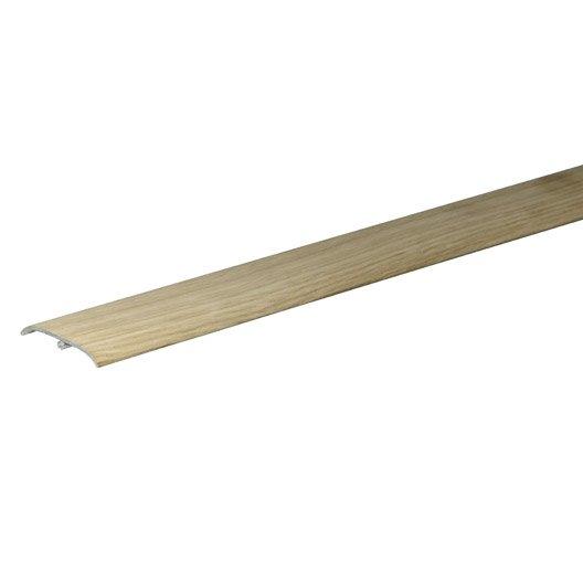 Barre de seuil 3 en 1 pour parquet plaqu e ch ne brut 83 for Barre de seuil parquet carrelage grande longueur