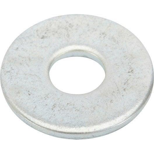 Lot de 10 rondelles acier zingué, Diam.8 mm STANDERS