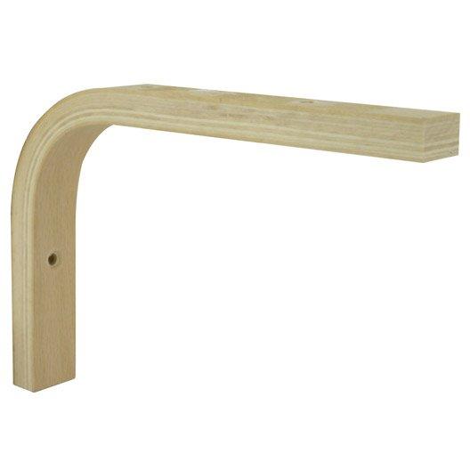 equerre multiplis bois brut naturel x cm leroy merlin. Black Bedroom Furniture Sets. Home Design Ideas
