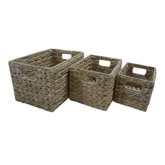Panier malle et boite de rangement rangement de salle for Panier osier rangement salle de bain