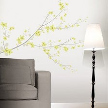Sticker Cherry tree vert 47 cm x 67 cm