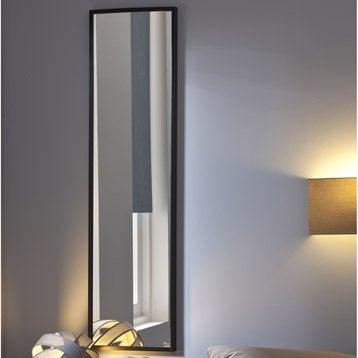 Miroir Lario INSPIRE, noir, l.30 x H.120 cm