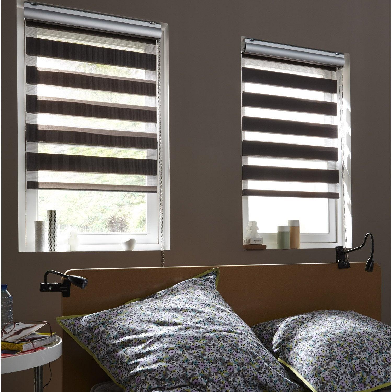store enrouleur jour nuit coffre alu gris galet n1 5760 x 160 cm - Store Jour Et Nuit Leroy Merlin