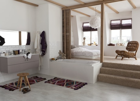 Une suite parentale avec salle de bains moderne | Leroy Merlin