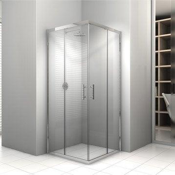 Paroi et porte de douche leroy merlin - Porte de douche coulissante 100 ...