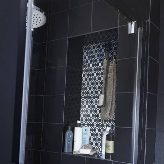 Salle De Bain Mur Noir ~ fa ence mur noir astuce l 20 x l 20 cm leroy merlin