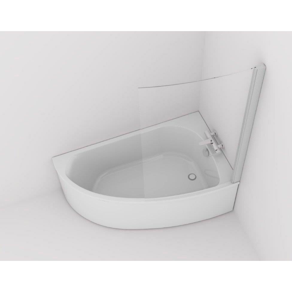 Baignoire asymétrique droite L.150x l.90 cm blanc, JACOB DELAFON