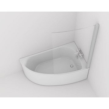 Baignoire d'angle L.150x l.90 cm blanc, JACOB DELAFON Duomega 2