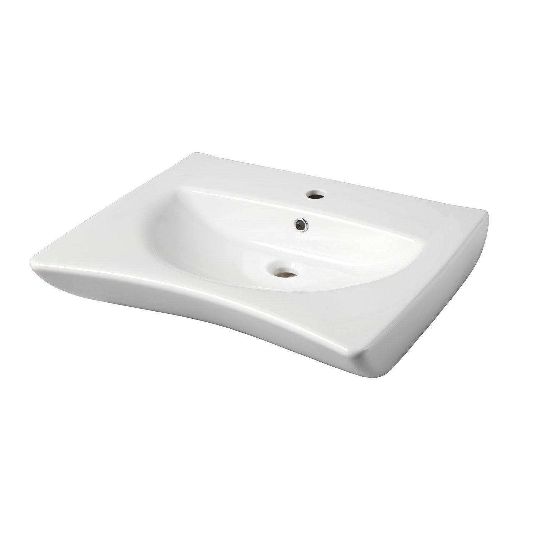 Lavabo Personne Mobilité Réduite lavabo en céramique, blanc ergonomic