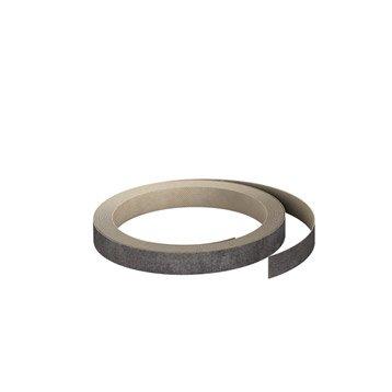 Chant de crédence stratifié Effet métal vieilli l.1.3 x L.500 cm