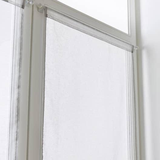 vitrage tamisant petite hauteur leo gris galet n 5 x cm leroy merlin. Black Bedroom Furniture Sets. Home Design Ideas