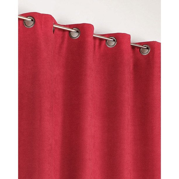 rideau occultant alaska rouge x cm leroy merlin. Black Bedroom Furniture Sets. Home Design Ideas
