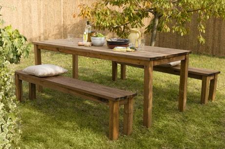 Le salon de jardin en bois élégant et pratique