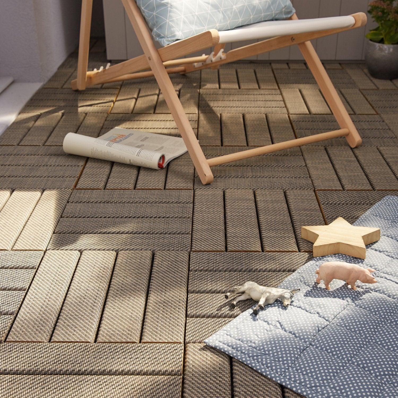 Des dalles clipsables bois pour votre terrasse leroy merlin - Leroy merlin dalles terrasse ...