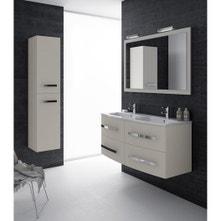 Meuble de salle de bains plus de 120, blanc / beige / naturels, Perla