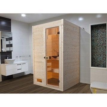 Sauna traditionnel 3 places, modèle Oland 1 WEKA, livraison incluse