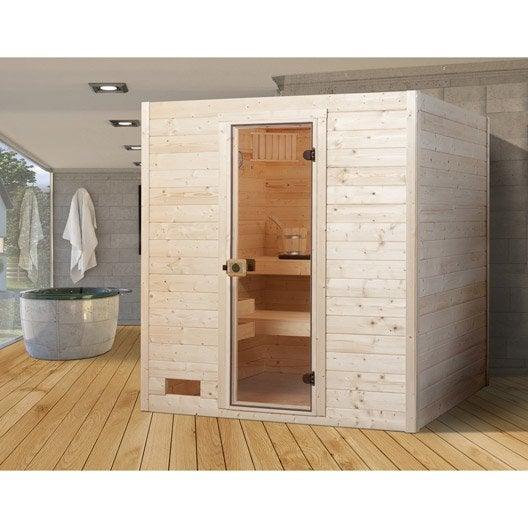 Sauna traductionnel 3 places, modèle Oland 2 WEKA, livraison incluse
