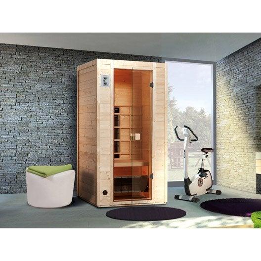 sauna infrarouge sauna au meilleur prix leroy merlin. Black Bedroom Furniture Sets. Home Design Ideas