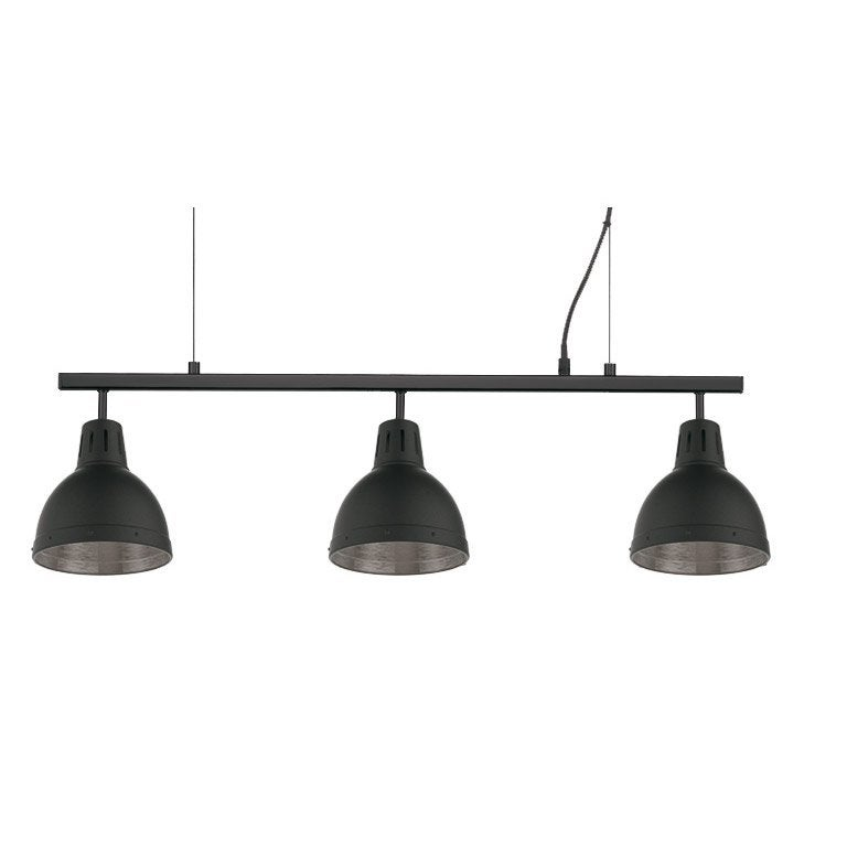 Suspension, industriel métal noir SEYNAVE CYNTHIA 3 lumière(s)