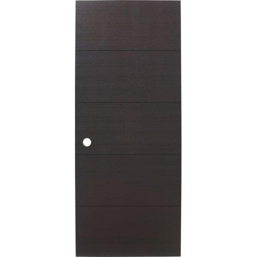 Porte coulissante fr ne plaqu marron tokyo artens 204 x - Porte coulissante en verre chez leroy merlin ...