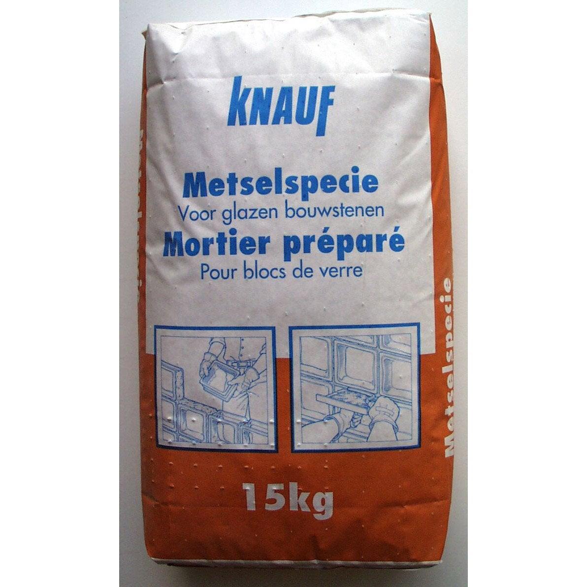 Colle En Poudre Pour Brique De Verre Knauf Gris 15kg Leroy Merlin # Etagere Verre Et Brique