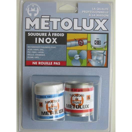 soudure froid sp cial inox metolux leroy merlin. Black Bedroom Furniture Sets. Home Design Ideas