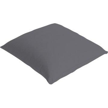 Coussin Bachet, gris galet n°3, 40 x 40 cm