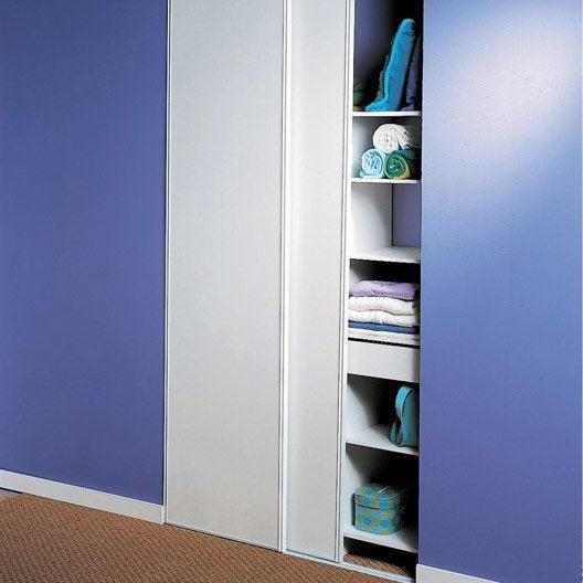 lot de 2 portes de placard coulissante x cm leroy merlin. Black Bedroom Furniture Sets. Home Design Ideas