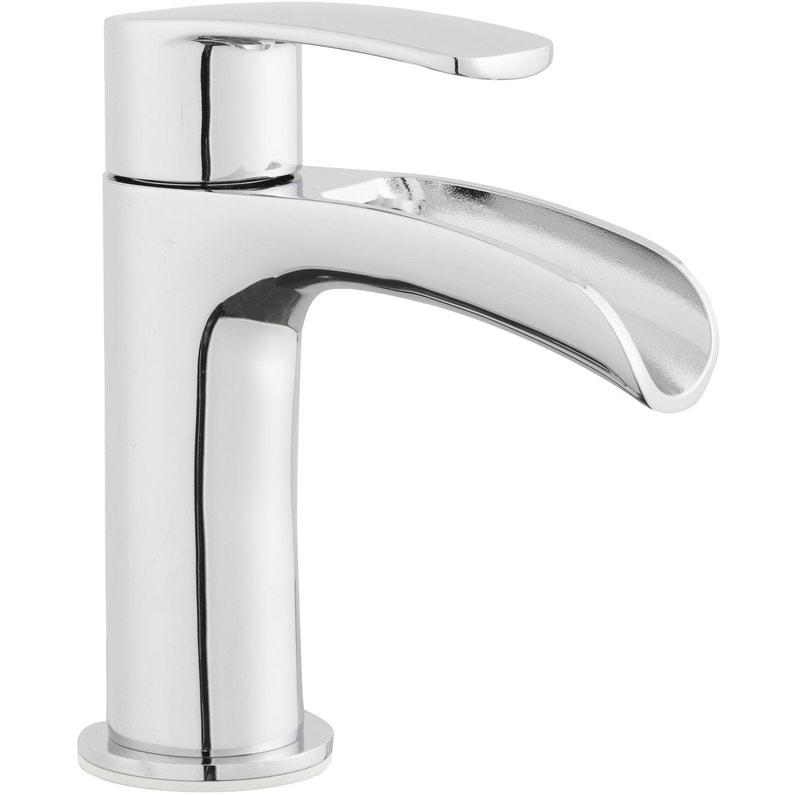 Robinet de lave mains eau froide cascade chrom cariba leroy merlin - Robinet eau froide pour lave main ...