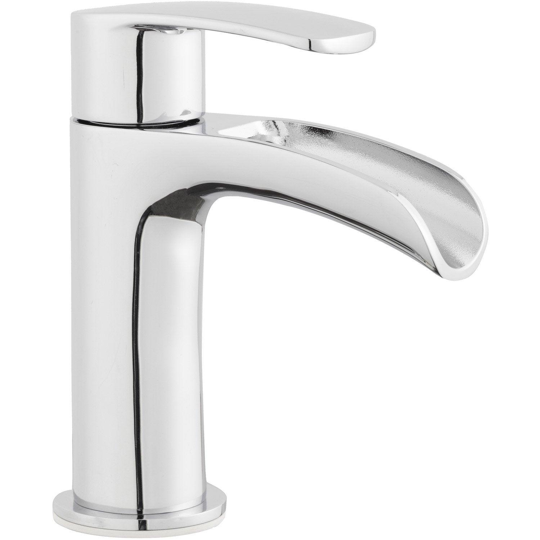 Robinet de lave-mains eau froide cascade chromé Cariba | Leroy Merlin