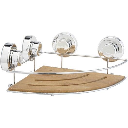 etag re de bain douche d 39 angle ventouser naturel wellness leroy merlin. Black Bedroom Furniture Sets. Home Design Ideas