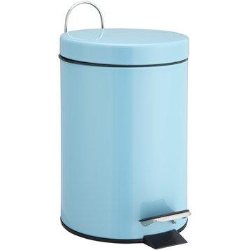 Poubelle de salle de bains accessoires et miroirs de salle de bains leroy merlin - Accessoire salle de bain bleu turquoise ...
