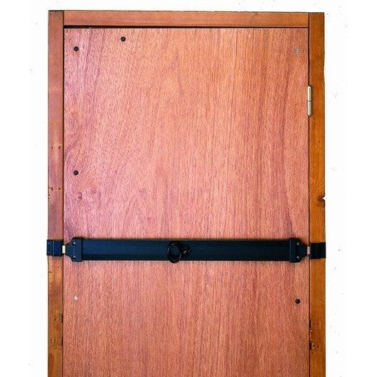 barre de s curit en acier zingu pour portes de garage cm leroy merlin. Black Bedroom Furniture Sets. Home Design Ideas