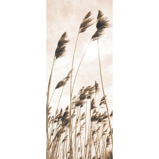 poster de porte natural breeze 92 x 202 cm leroy merlin. Black Bedroom Furniture Sets. Home Design Ideas